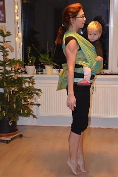 cvičení s dětmi v šátku a nosítku