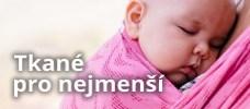 Tkané šátky pro novorozence