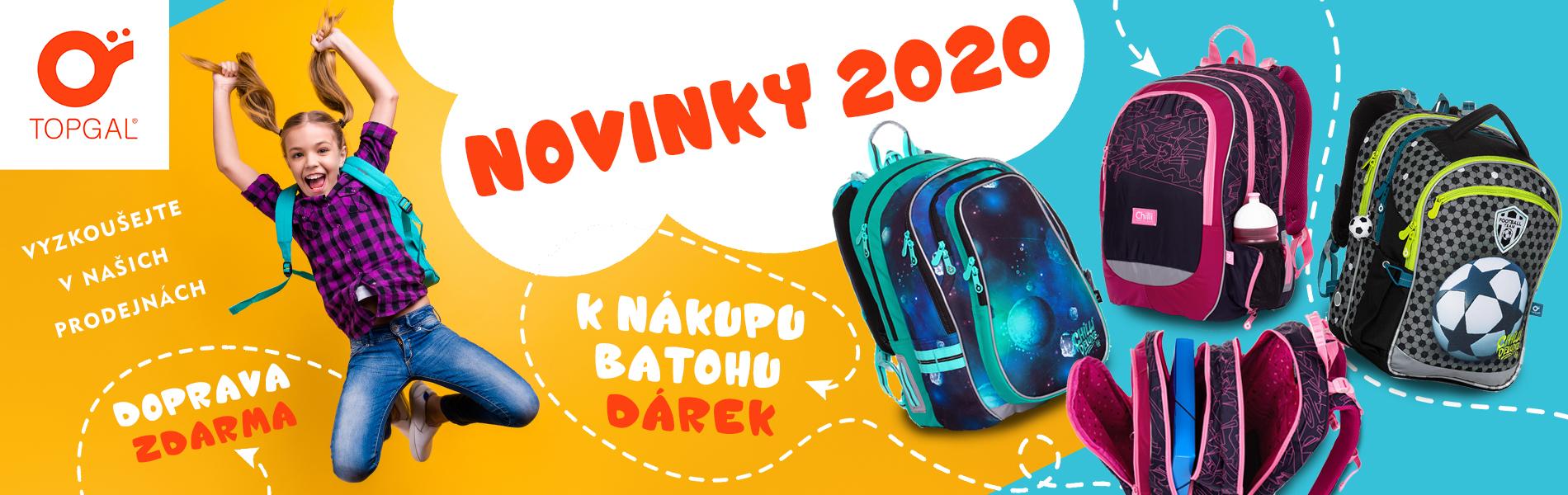 Školní batohy Topgal skladem s dopravou a dárkem zdarma