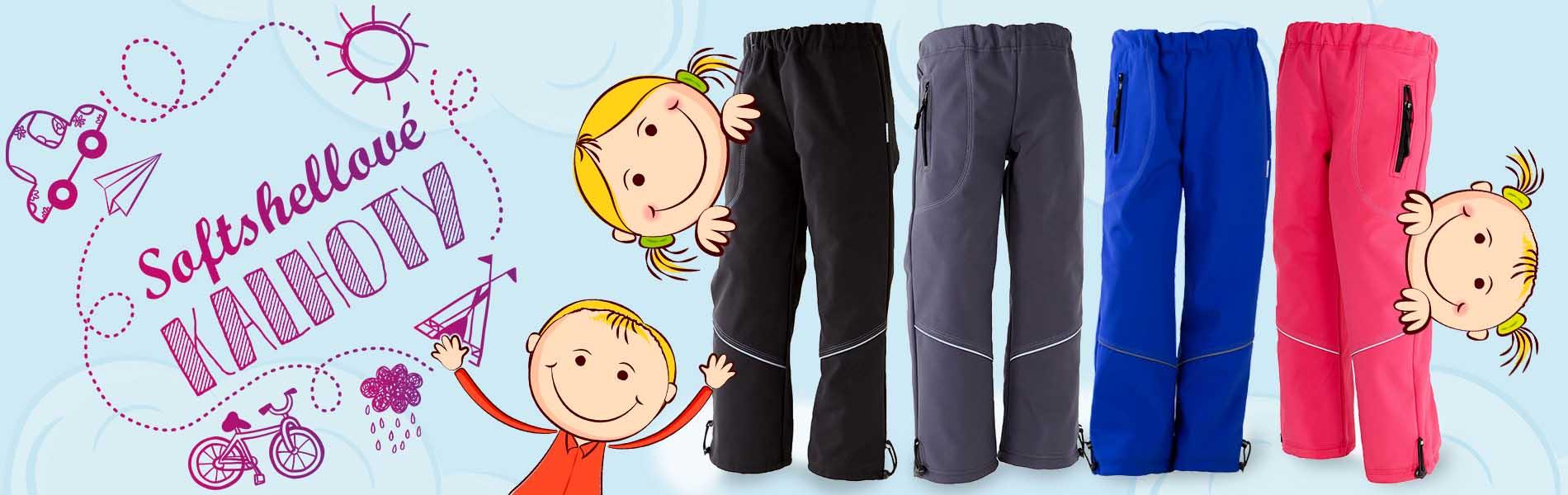 nepromokavé kalhoty pro děti