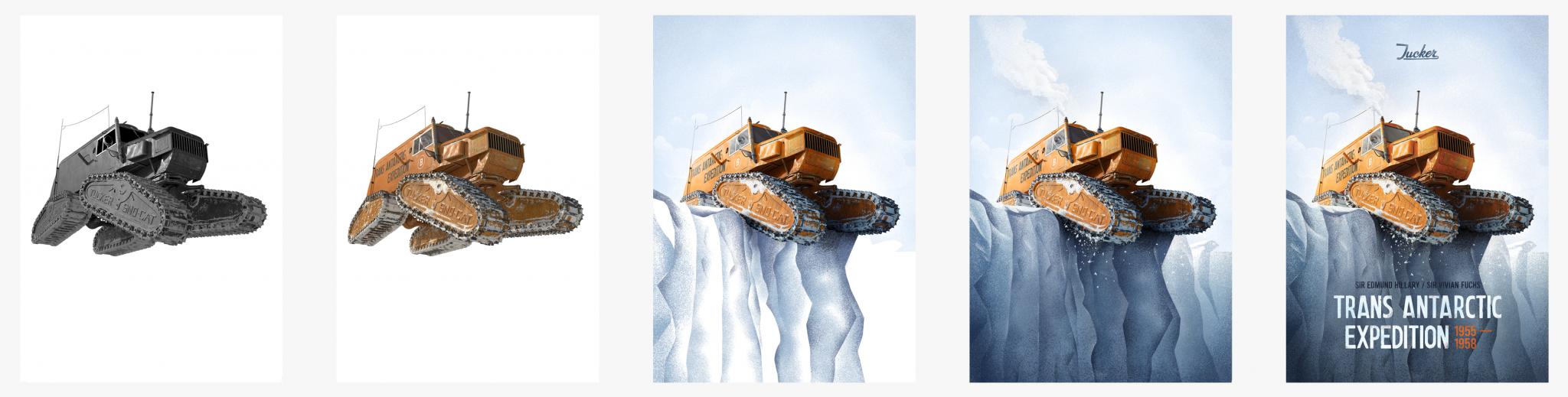 Automobilist Trans Antarctic Expedition Creation