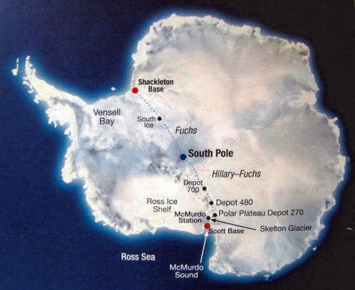 Route of the Commonwealth Trans-Antarctic Expedition