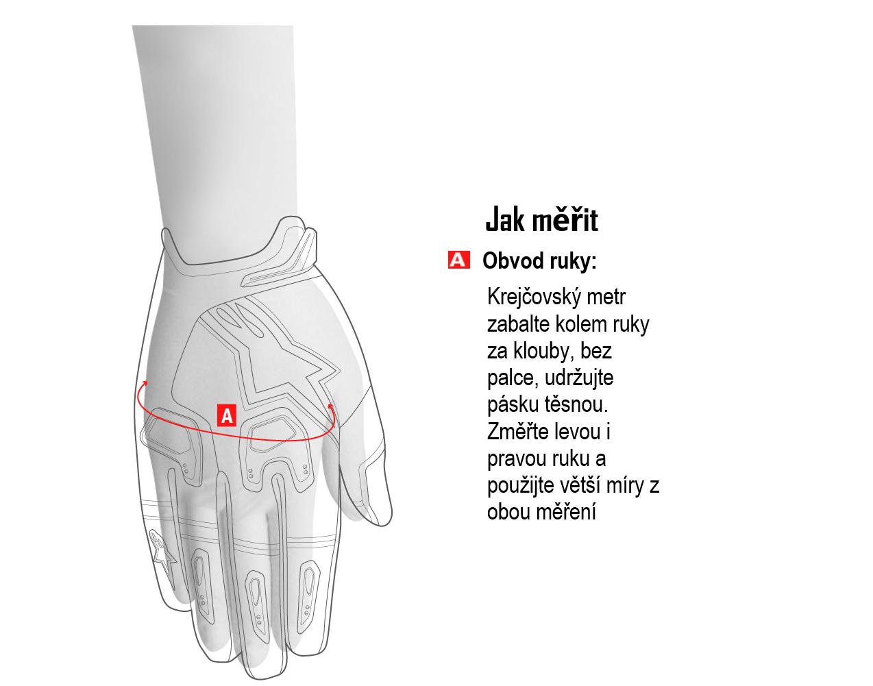 Pánské a dámské MX rukavice