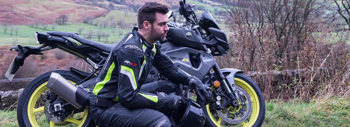 Kožená bunda na motorku RST R-18