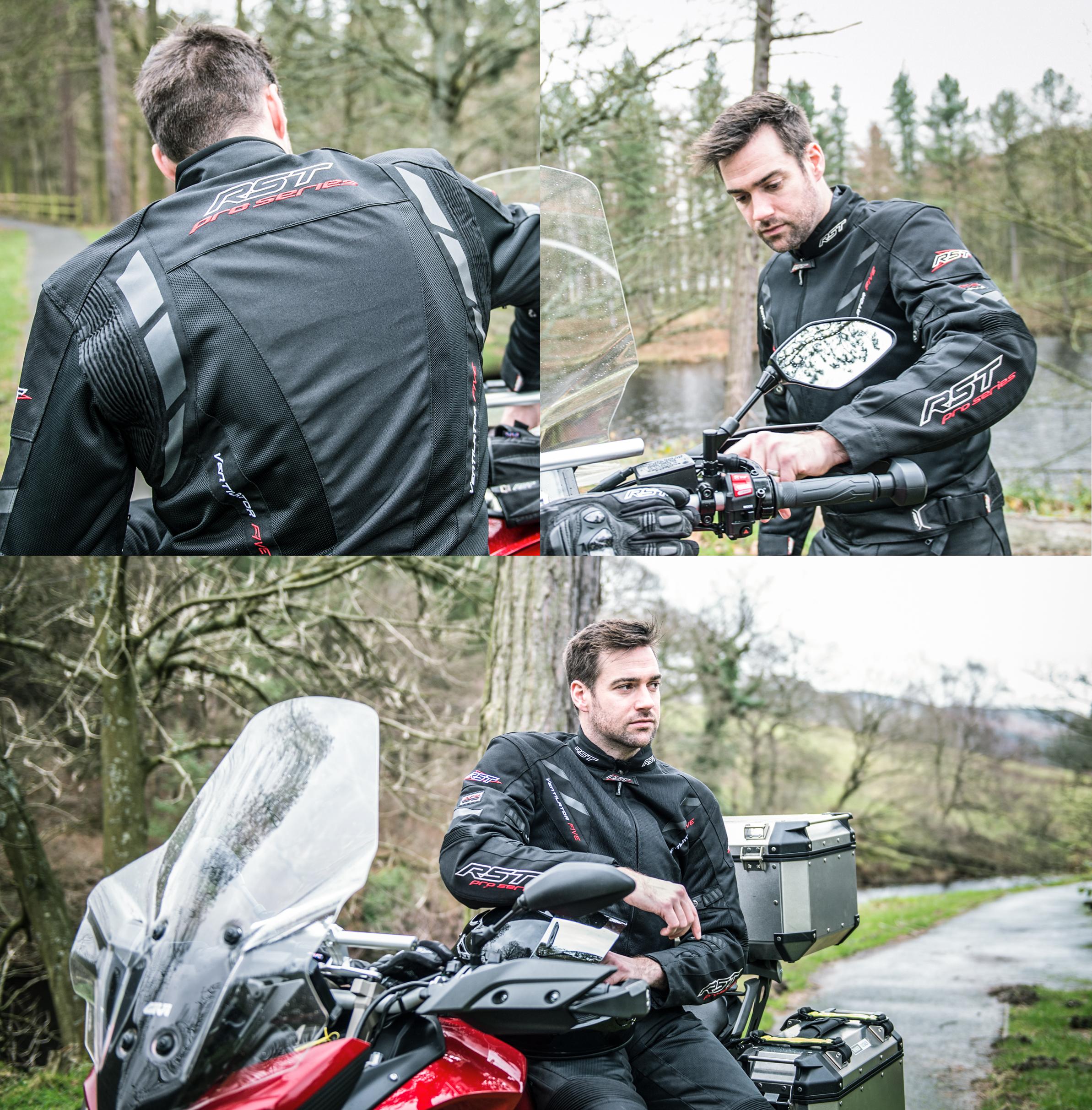 Textilní bunda na motorku RST VENTILATOR