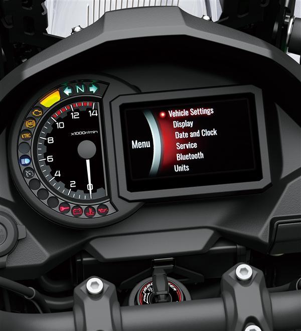 Kawasaki Versys 1000 Propojení s mobilním telefonem