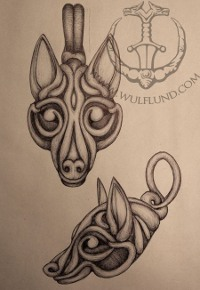 Viking Borre Wolf Head Fenrir