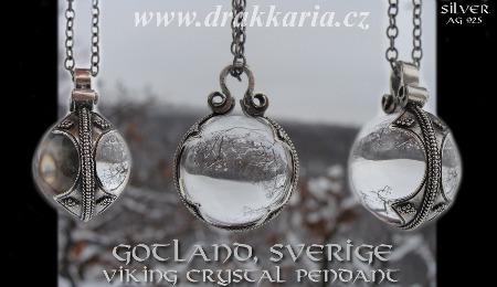 Křišťálový  stříbrný závěs, Gotland