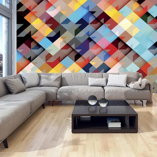 Tapeta v geometrických tvaroch - mozaika dovido
