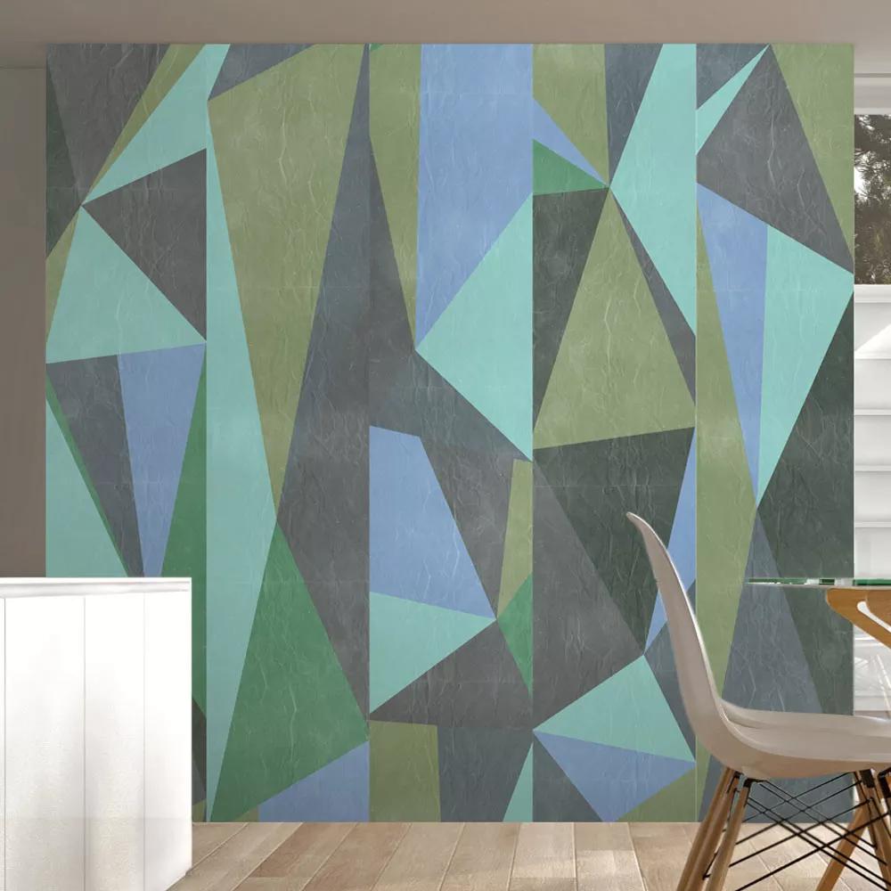 Tapeta v geometrických tvaroch - asymetrické trojuholníky