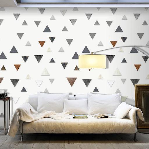 Tapeta v geometrických tvaroch - grafické trojuholníky