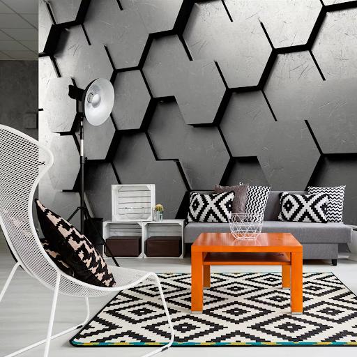 Tapety v geometrických tvaroch - realistický šesťuholník