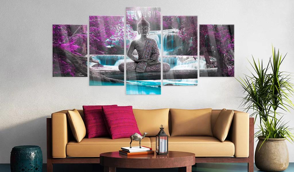 Obraz meditujúci Budha