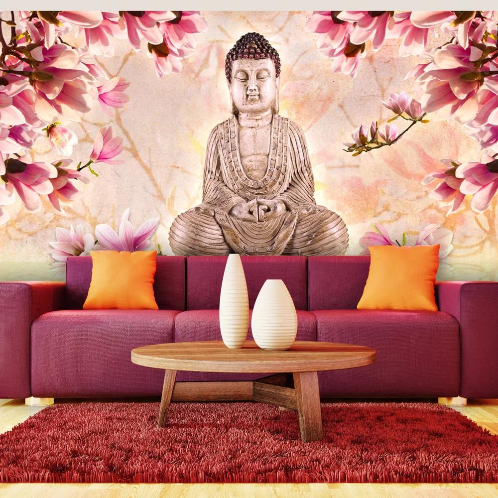 Fototapeta Budha obklopený kvetmi