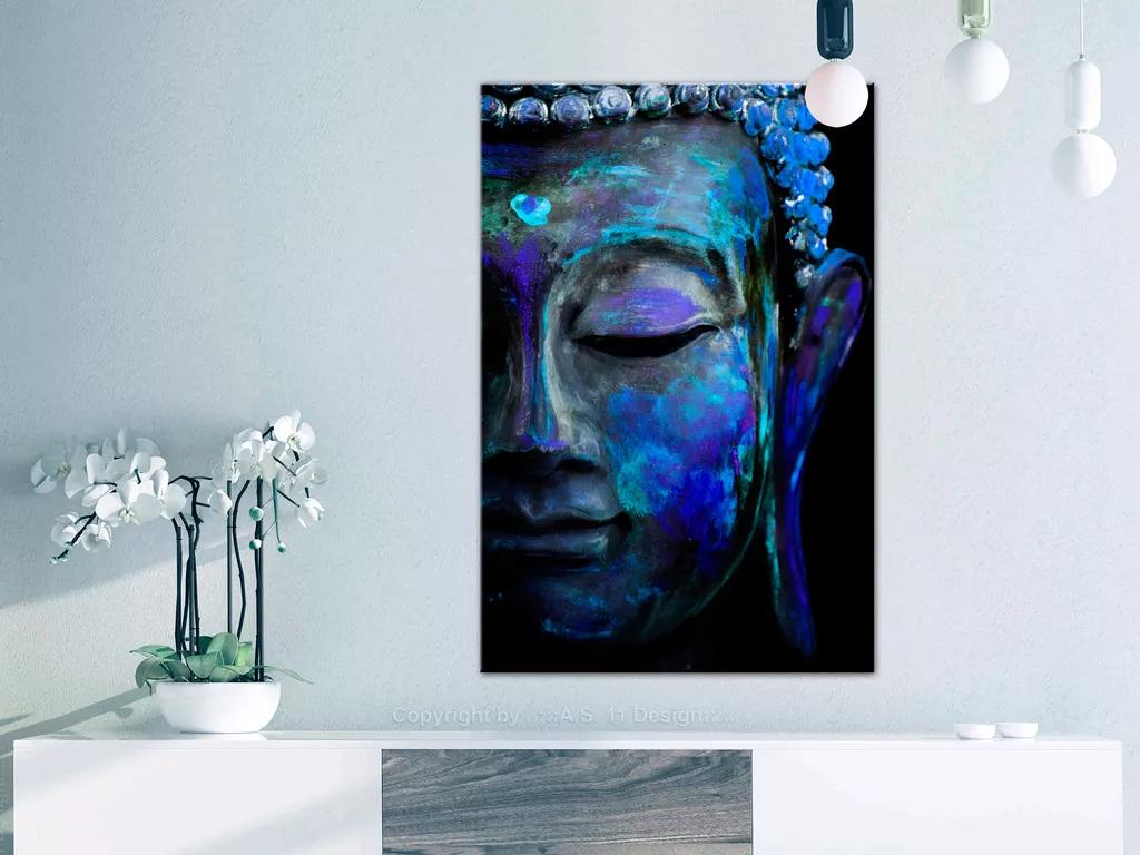 Obraz Budha s modrou kožou