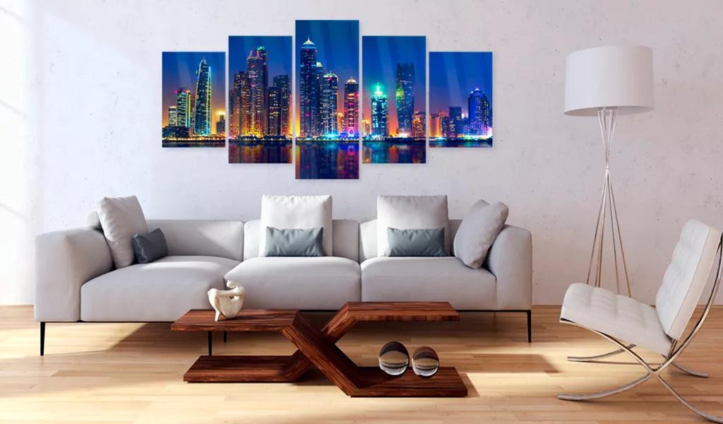 Obraz noc v Dubaji na akrylátovom skle