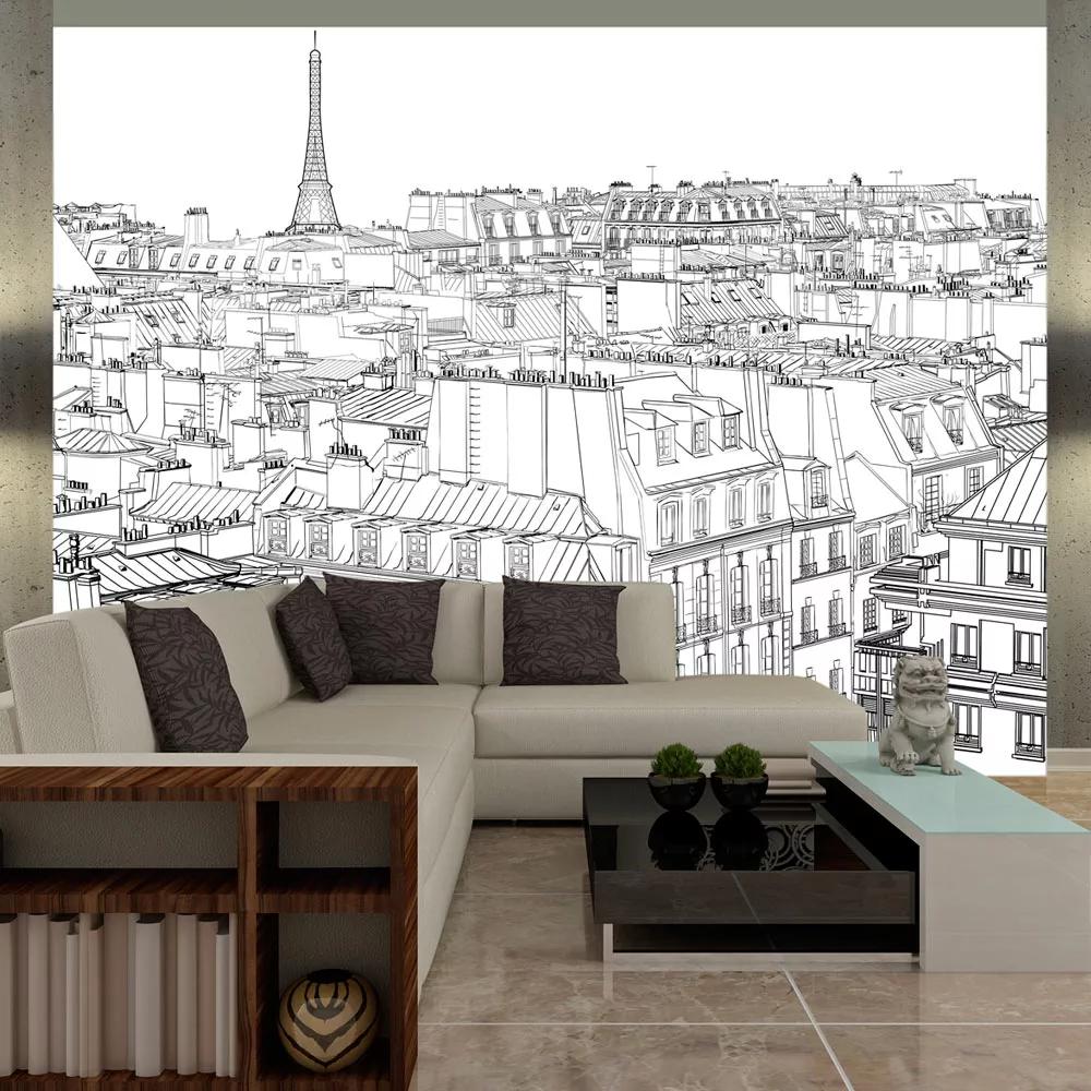 Fototapeta skica Paríža