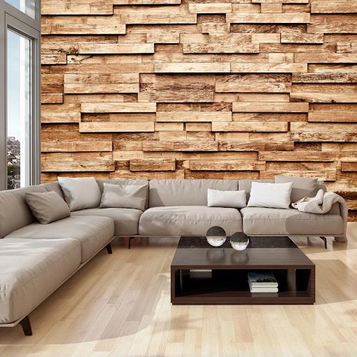 Tapeta s imitáciou dreva - drevené obklady dovido
