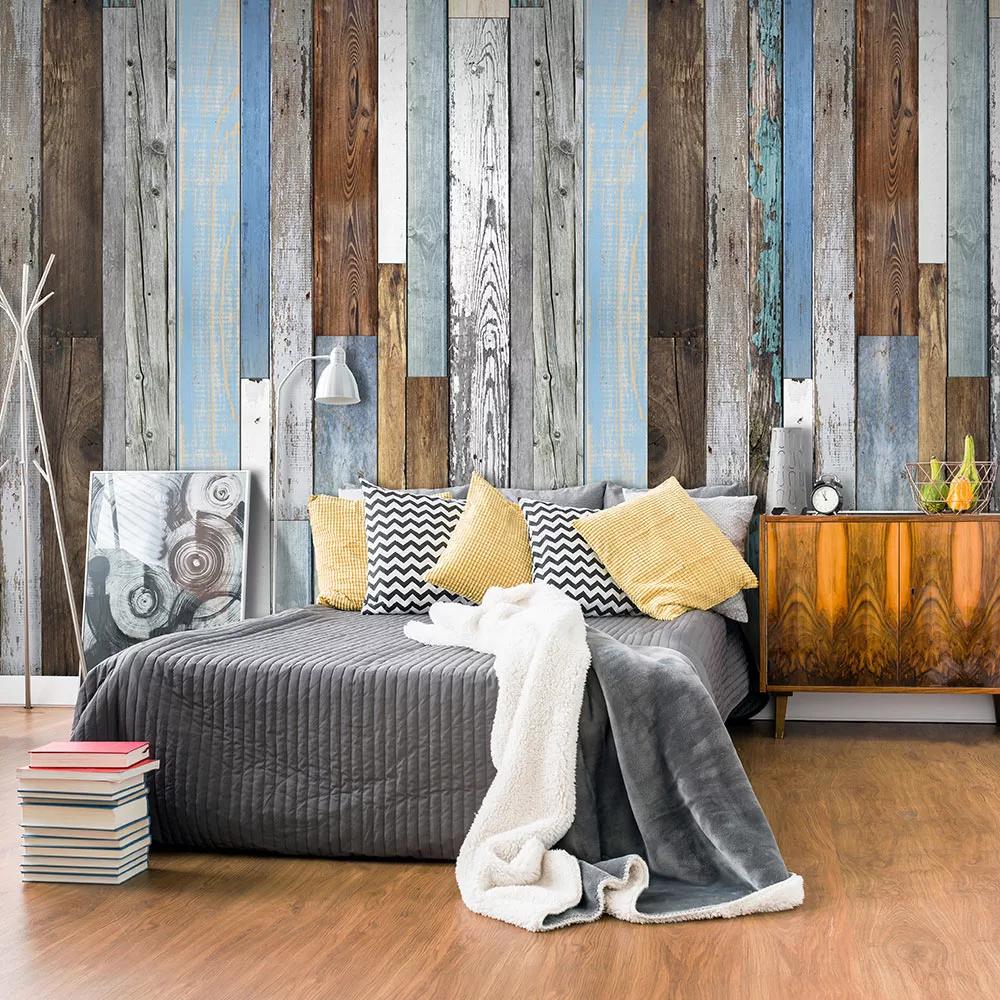 Tapeta s imitáciou dreva - industriálne staré drevo dovido