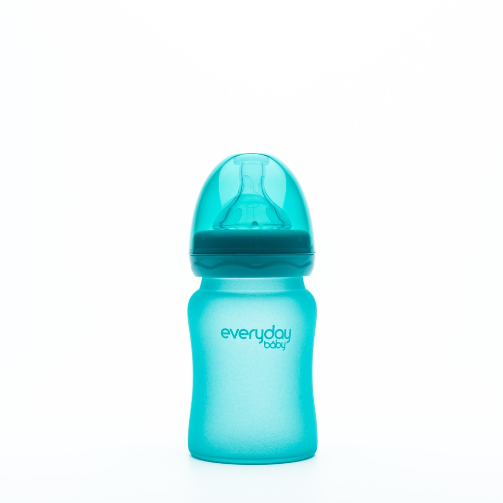 Everyday Baby Láhev sklo, senzor, 150ml,turquoise