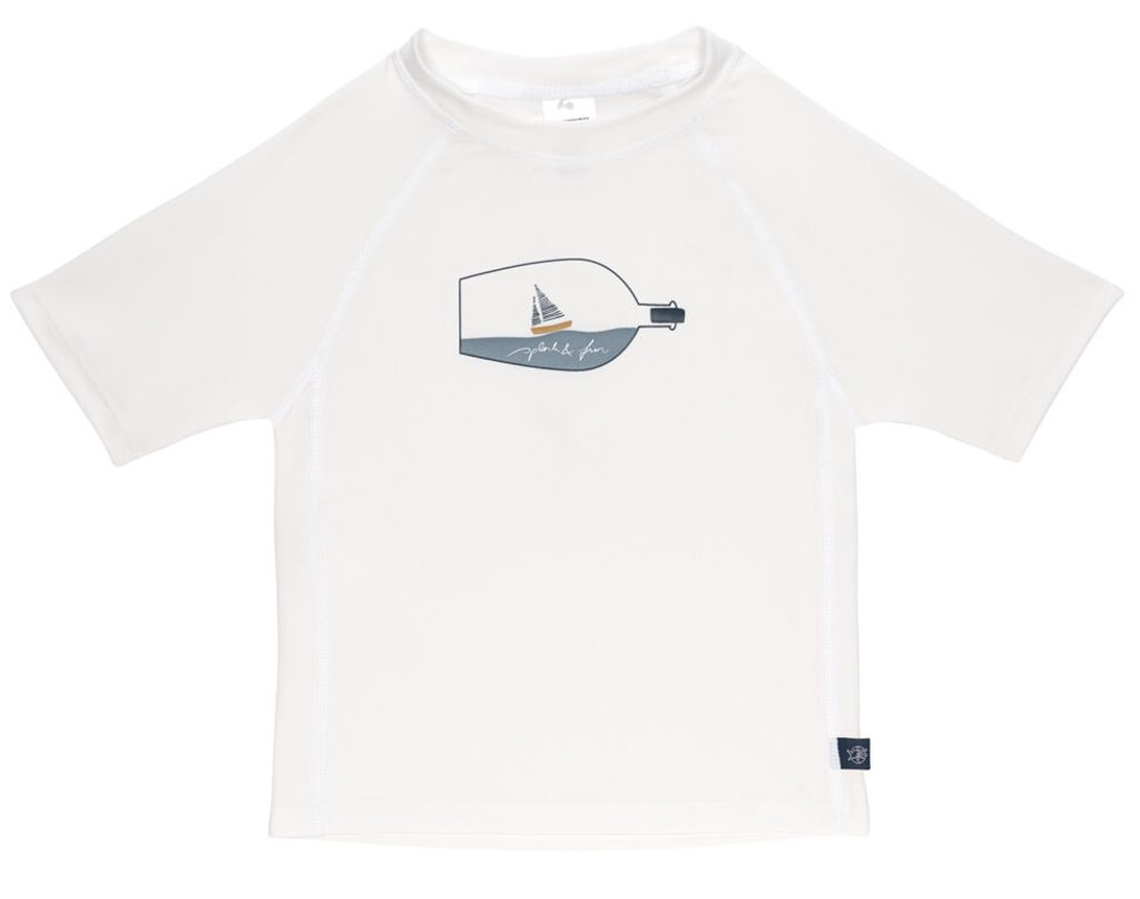 Lässig Splash Short Sleeve Rashguard ship in bottle white 12 mo.