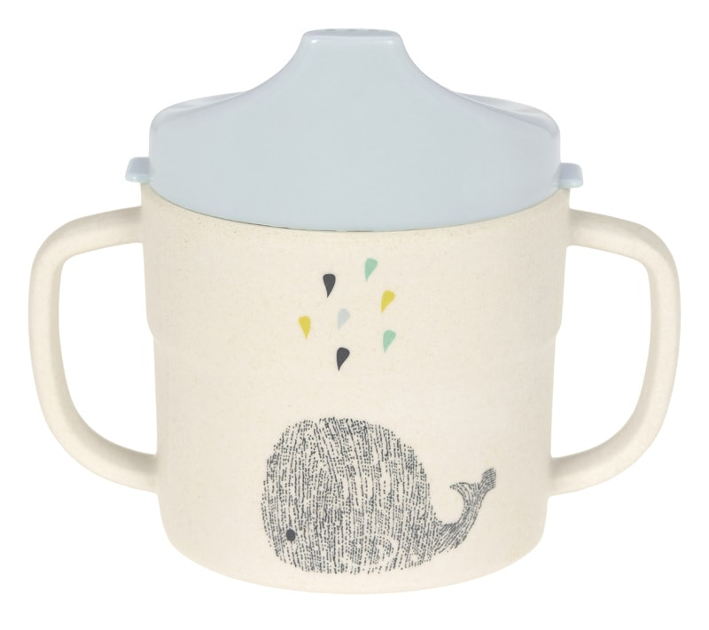 Lässig 4babies Sippy Cup Bamboo Little Water Whale