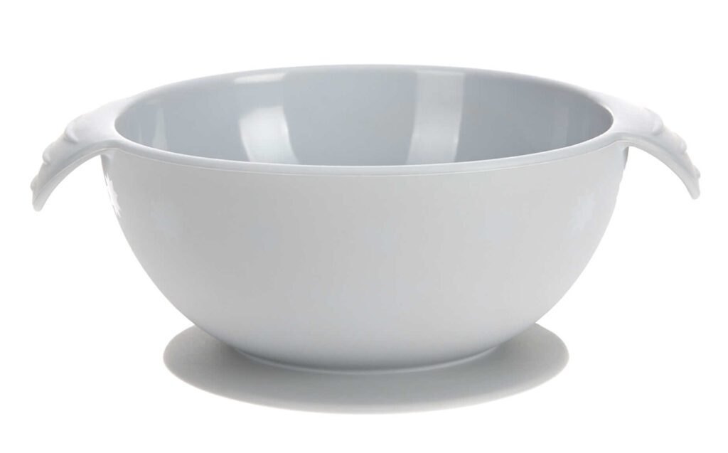 Lässig 4babies Bowl Silicone grey with suction pad