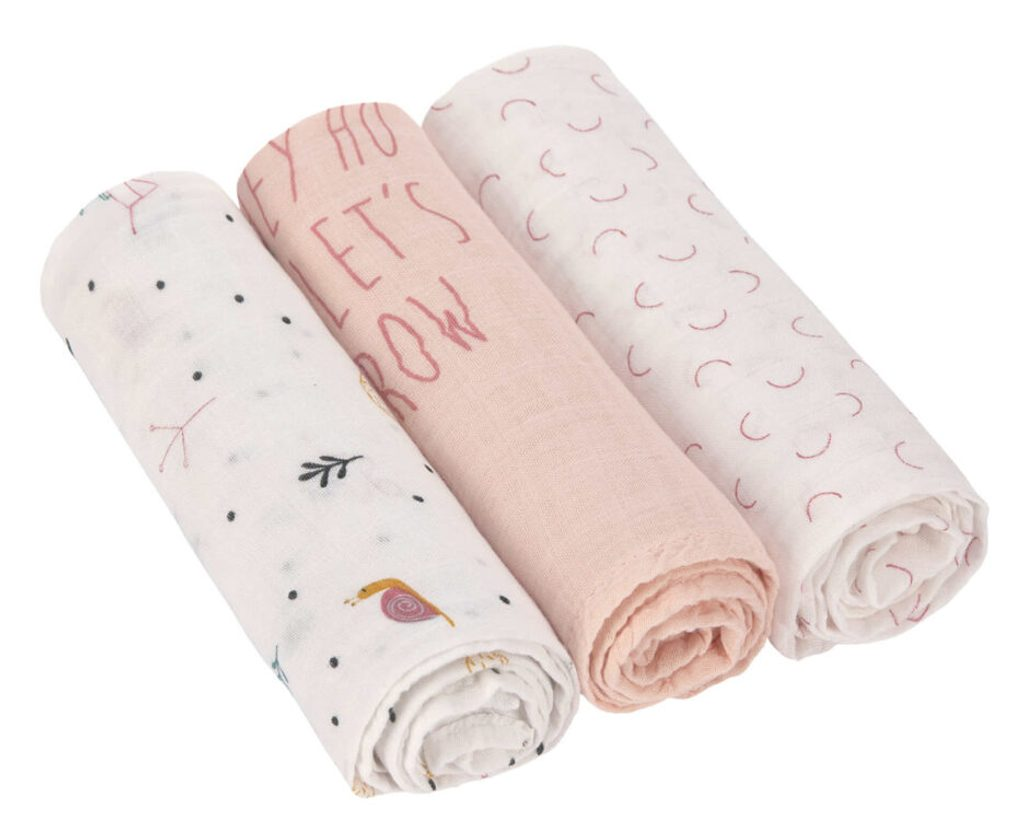 Lässig Swaddle Heav. Soft 80x80 Gard. Explo. girls