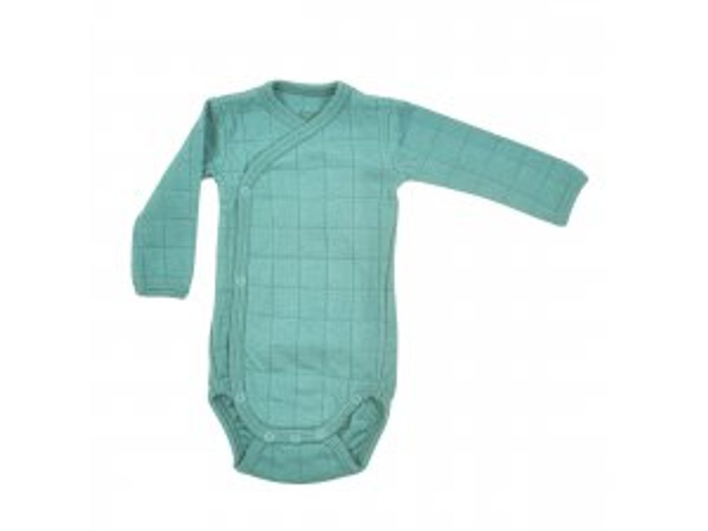 LODGER Romper Solid Long Sleeves Dusty Turquoise vel. 74
