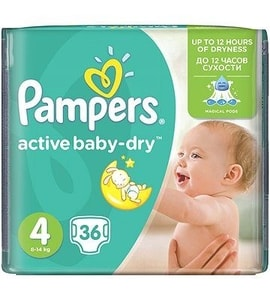 Pampers Active Baby Mid Pack S4 36ks