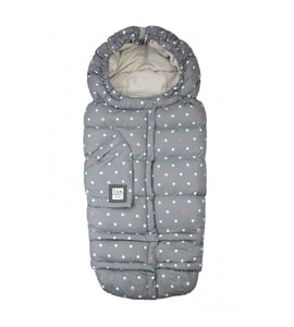 7AM Enfant Blanket 212 Evolution fusak Grey Polkadots