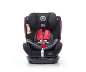 More WERDU 0123 oboustranný Isofix Black Red Grey