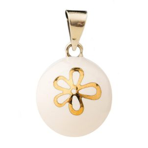 BABYLONIA BOLA white with gold flower