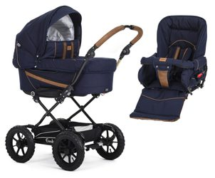 Emmaljunga set chassis Duo 4 2020 Outdoor 17085 + 12005 Eco navy