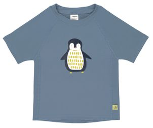 Lässig Splash Short Sleeve Rashguard penguin niagara blue 24 mo.