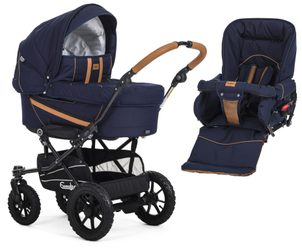 Emmaljunga set chassis Duo S 2020 Outdoor 17983 + 12104 navy