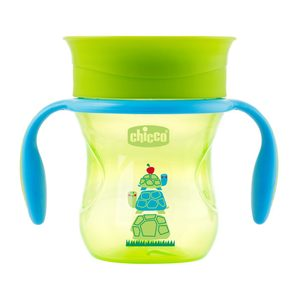Chicco Chicco 360 s držadly 200 ml zelený 12m+