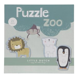 Little Dutch Dřevěné puzzle Zoo