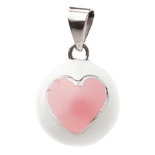 BABYLONIA BOLA white with pink heart