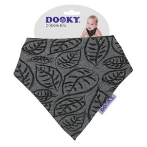 Dooky bryndáček Dribble Bib Grey Leaves