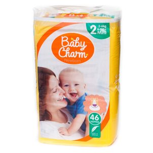 Baby Charm Super Dry Flex vel. 2 Mini, 3 - 6 kg, 46 ks