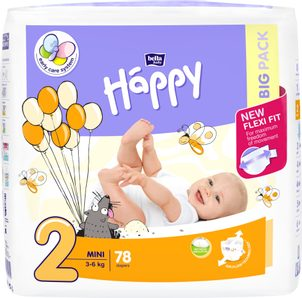 Bella Baby HAPPY Mini Big Pack 78 ks