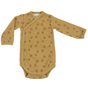 LODGER Romper Long Sleeves Print Rib Honey vel. 74