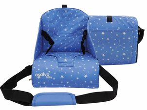 Asalvo ANYWHERE booster na židli, stars blue