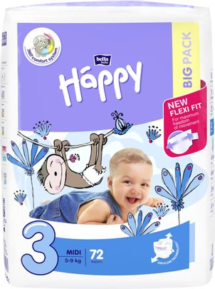 Bella Baby HAPPY Midi Big Pack 72 ks