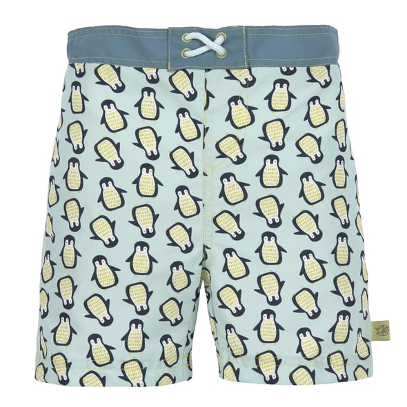 LÄSSIG SPLASH BOARD SHORTS BOYS PENGUIN MINT 24 MO.