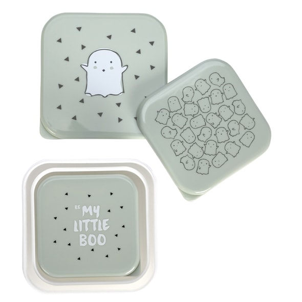 LÄSSIG 4BABIES SNACKBOX LITTLE SPOOKIES OLIVE