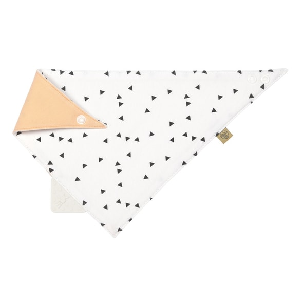 LÄSSIG 4BABIES INTERLOCK BANDANA WITH SILICONE TEETHER LITTLE SPOOKIES PEACH