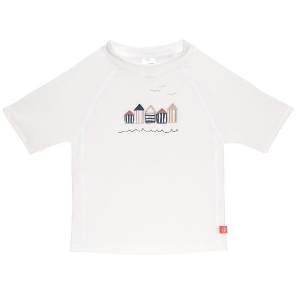 LÄSSIG SPLASH SHORT SLEEVE RASHGUARD BEACH HOUSE WHITE 24 MO.