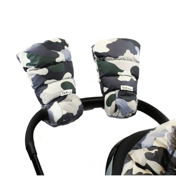 7AM ENFANT WARMMUFFS RUKAVICE NA KOČÁREK CAMO FOREST